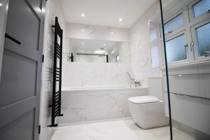 Completed Marble Bathroom